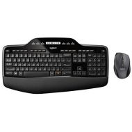 Logitech MK710 Wireless Keyboard and Mouse Combo  Includes Keyboard and Mouse, Stylish Design, Built-In LCD Status Dashboard, Long Battery Life