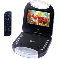 MAGNAVOX Magnavox MTFT750-BL Blue 7 Inch Portable DVD Player With Remote Control, And Car Adapter, TFT Screen, CD Player