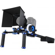 MARSRE DSLR Shoulder Rig Film Movie Video Making System Kit with Follow Focus and Matte Box for Canon Nikon Sony and Other DSLR Cameras Video Camcorders