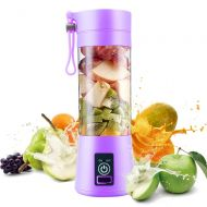 MIAOKE Personal Juice Blender, Electric USB Juicer Extractor for Shakes, Smoothies and Food Prep Portable Juice Machine with 4 Blades, 2000mAh Rechargable Battery