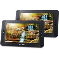 MILANIX Milanix MX101 10 Dual Screen Portable DVD Player for Car, Headrest Video Player, with Built-In 5 Hours Rechargeable Battery, Last Memory, SD/MMC & USB Input