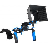Morros DSLR Rig Shoulder Mount Rig + Matte Box for All DSLR Cameras and Video Camcorders(Follow Focus not Included)