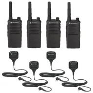 4 Pack Motorola RMU2040 Radios with Speaker Mics