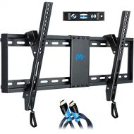 Mounting Dream Tilt TV Wall Mount Bracket for Most 37-70 Inches TVs, TV Mount with VESA up to 600x400mm, Fits 16, 18, 24 Studs and Loading Capacity 132 lbs, Low Profile and Space S