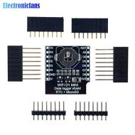 Muccus RTC DS1307 Real Time Clock DataLog Shield for Micro SD D1 Mini+RTC DS1307 Clock with Pin-headers Set for Arduino/Raspberry