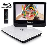 10.1 Portable Blue Ray DVD Player Support HDMI Output, Sync Screen, Resume, AV Out & in, 1080P Video, USB SD, Dolby Audio - NAVISKAUTO