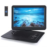 NAVISKAUTO 1366x768 Portable DVD Player with 15.6 Large Screen Support 7 Hours, Sync Screen, AV Out & in, 128GB USB SD, Last Memory, Region Free