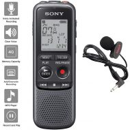NEEGO Sony Digital Voice Recorder ICD-PX Series, with Built-in Mic and USB, 4GB Memory, Noise Cut for Noise-Free Recordings, Includes A NeeGo Lavalier Lapel Mic