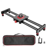 Neewer Camera Slider Carbon Fiber Dolly Rail, 16 inches40 centimeters with 4 Bearings for Smartphone Nikon Canon Sony Camera 12lbs Loading