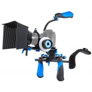 Neewer MARSRE DSLR Shoulder Rig Film Making Kit with Follow Focus, Matte Box, C-Shape Mounting Bracket and Top Handle for All DSLR Video Cameras and DV Camcorders