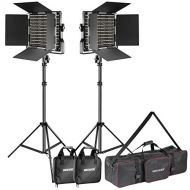 Neewer 2-Pack Dimmable Bi-color 660 LED Video Light and Stand Lighting Kit with Large Carrying Bag for Photo Studio Video Photography, Durable Metal Frame, 660 LED Beads,3200-5600K