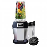 Ninja BL455_30 Nutri Professional Personal Blender Bonus Set with 3-Sip & Seal Single Serves(12, 18, and 24 oz. Cups) & 75-Recipe Cookbook, Stainless SteelBlack