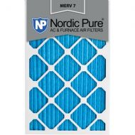 Nordic Pure 16x25x1 Pleated MERV 7 AC Furnace Air Filters Qty 6