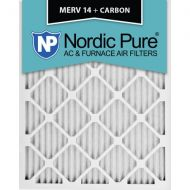 Nordic Pure 18x20x1 MERV 14 Plus Carbon AC Furnace Air Filters Qty 6