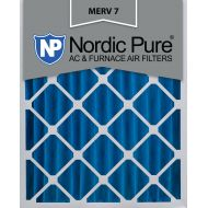 Nordic Pure 16x25x4 (3 58) Pleated Air Filters MERV 7 Qty 1