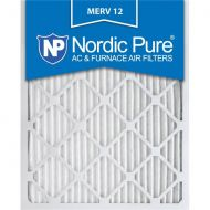 Nordic Pure 18x25x1 Pleated MERV 12 AC Furnace Air Filters Qty 3