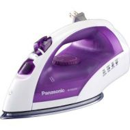PANASONIC-SMALL APPLIANCES Panasonic Clothes Iron - Stainless Steel Sole Plate - 1200 W - White, Purple STAINLESS STEEL