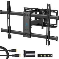 PERLESMITH Full Motion TV Wall Mount Bracket Dual Articulating Arms Bear up to 132lbs for Most 37-70 inch TV with Tilt, Swivel, Rotation fit LED, LCD, OLED, Plasma Flat Screen TV,