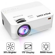 [TV Projector] POYANK 2500Lumens [2019 Upgraded] Mini Projector- 50,000 Hours LED Projector, Compatible with HDMI/VGA/AV/USB/SD/PS4/XBOX/TV Box/Roku/Fire TV Stick/Chromecast/Smartp