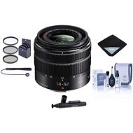 Panasonic Lumix G X Vario 14-42mm F3.5-5.6 II Mega OIS Lens for Micro Four Thirds - Bundle with 46mm Filter Kit, Lens Wrap, Cleaning Kit, Capleash II, LensPen Lens Cleaner