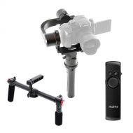Pilotfly H2 3-Axis Handheld Gimbal Stabilizer for Mirrorless and DSLR Cameras, Bundle 2-Hand Holder for H2 and T1 Camera Gimbals, RM-1 Wireless Remote Control