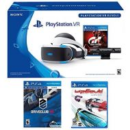 Playstation PlayStation VR Racing Complete Bundle (5 Items): PlayStation VR Headset, PSVR Camera, PSVR Gran Turismo Bundle Game, PSVR Wipeout Omega Collection Game and PSVR Driveclub Game