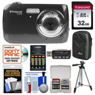 Polaroid iS126 16.1MP Digital Camera (Black) with 32GB Card + Case + Batteries & Charger + Tripod + Kit