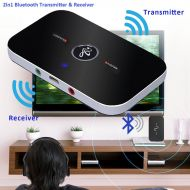Purpplex 2in1 Wireless Bluetooth Transmitter & Receiver A2DP Home TV Stereo Audio Adapter - Black