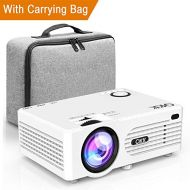 QKK 2200Lumen Mini LCD Projector Home Theater Projector, Support 1080P Full HD, HDMi, VGA, USB x 2(SD, AV and Headphones Interface, HDMI and AV Cable Multimedia Home Theatre Ente