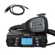 QYT KT-980 Plus 144430MHz Dual-Band Amateur FM Base Transceiver 50 Watts 200 Channels Ham Mobile Radio, with Cable