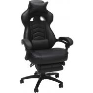 RESPAWN-110 Racing Style Gaming Chair - Reclining Ergonomic Leather Chair with Footrest, Office Or Gaming Chair (RSP-110-GRN)