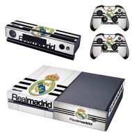 REYTID Xbox One Console Skin + 2x Controller Stickers Decal Faceplate Real Madrid Home