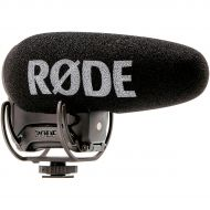 Rode Microphones},description:The VideoMic Pro+ is the next in line from Rodes on-camera mic series. This compact shotgun mic features a rechargeable battery, automatic power funct