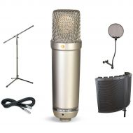 Rode Microphones},description:Special pricing on a fine studio microphone along with all of the essential accessories you'll need to get a quality signal to the board. Along with y