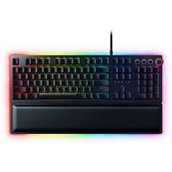 [아마존베스트]Razer Huntsman Elite Gaming Keyboard: Fastest Keyboard Switches Ever - Clicky Optical Switches - Chroma RGB Lighting - Magnetic Plush Wrist Rest - Dedicated Media Keys & Dial - Cla