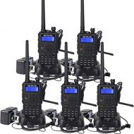 Retevis RT5 Two Way Radios 7W 128 CH 2 Way Radios VHFUHF Radio 136-174400-520 MHz Walkie Takies (5 Pack)