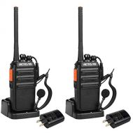 Retevis H-777S Two Way Radio Portable Size Rechargeable Walkie Talkie with USB Charger Cradle and Professional Earpieces (1 Pair)