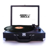 Rock N Rolla Jr. - Portable Briefcase Bluetooth USB Vinyl Record Player Turntable - Teal