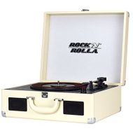 Rock N Rolla XL - Portable Bluetooth USB Vinyl Record and CD Player Turntable - Beige
