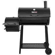 Royal Gourmet BBQ Charcoal Grill with Offset Smoker, 30 L, New Process Paint Not Flake