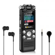 SAIMPU Voice Recorder- 16GB Digital Voice Recorder for Lectures and Meetings,Voice Activated Recorder Sound Audio Recorder Dictaphone Tape Recorder Recording Device with MP3 Player
