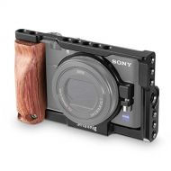 SMALLRIG RX100 Cage for Sony RX100 V / RX100 III / RX100 IV (for Sony M3 M4 M5) Camera with Wooden Handle Grip - 2105