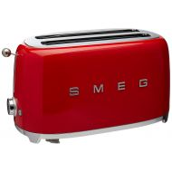 Smeg TSF02RDUS 50s Retro Style Aesthetic 4 Slice Toaster, Red