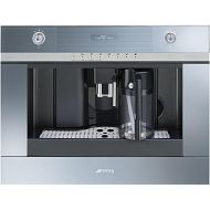 Smeg CMSCU451S 24 Linea Built-In Coffee Machine with Milk Frother Fully Automatic for Coffee Beans 5 Level Adjustable Coffee Strength in Stainless