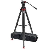 Sachtler System FSB 6T Fluid Head, Flowtech 75 Carbon Fiber Tripod with Mid-Level Spreader & Rubber Feet