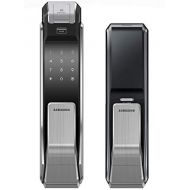 Samsung SHS-P718-LMK Push Pull Biometric Touchscreen Digital Door Lock, Code Fingerprint and RFID Entry, Small Mortise (AML-220)