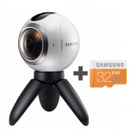 Samsung Gear 360 Degree Spherical Camera (SM-C200) + Micro SD 32GB Spherical Camera SM-C200 for Galaxy S7, S7 Edge, S6, S6 Edge, S6 Edge Plus, Note 5 (International Version - No Wa