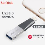 [직배송][추가금없음]SanDisk OTG USB Flash Drive 128GB Pen Drive 3.0 PenDrives double interface for iPhone iPad APPLE MFi free gift for free gift