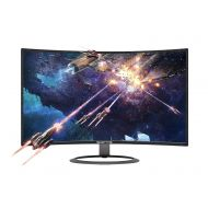 Sceptre 27 Curved 75Hz LED Monitor C278W-1920R Full HD 1080P HDMI DisplayPort VGA Speakers, Ultra Thin Metal Black, 1800R immersive curvature, 2018