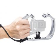 Sevenoak SK-GHA6 Aluminum Underwater Video Cage Diving Rig Micro Film kit Stabilizer & Cold Shoe Mount Wrist Strap for GoPro Hero3 3+ 4 5 6 SJCAM SJ4000 Action Camera Swimming Surf
